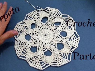 CARPETA Redonda a #crochet o ganchillo PARTE 1 tutorial paso a paso. Moda a Crochet