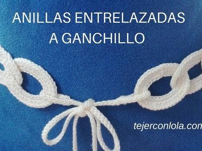 CINTURÓN A GANCHILLO Anillas Entrelazadas