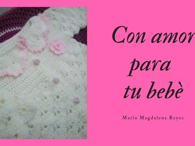 Como tejer abrigo de bebè, punto fantasìa. Parte -2-