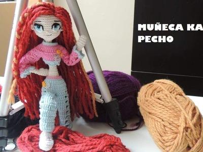 COMO TEJER PECHO MUÑECA AMIGURUMI KARLA - 3.13