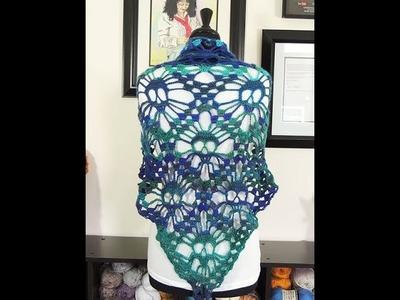 Crochet: Chal para Halloween. Parte 2 de 2