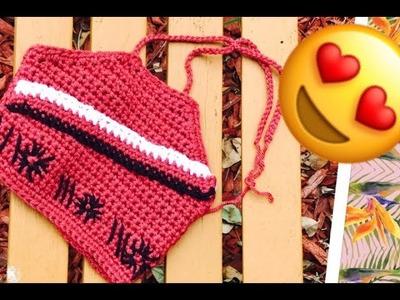 Crochet Halter Top Inspirada de la pelicula de  Moana.!!!!  Tejiendo con Erica.!!!