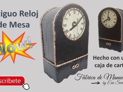 De una simple cajita a un hermoso y antiguo Reloj. DIY. Y funciona perfectamente