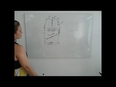 DIY Cómo hacer patrón o molde básico de falda. Leccion #2