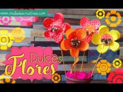 Dulces Flores :: Dulceros con Botellas de Plástico en forma de Flores :: Chuladas Creativas
