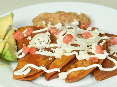 Enchiladas Potosinas | Cocinando con angel