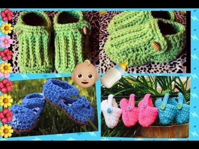 Ideas para hacer Zapatitos a crochet .!!! Tejiendo Con Erica