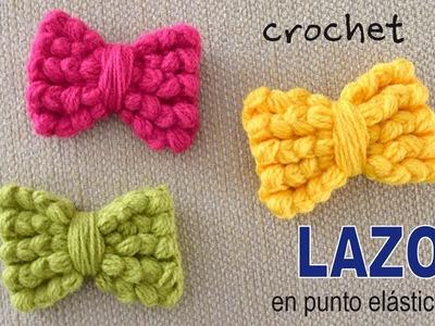 Lazos o moños tejidos a crochet en punto puff elástico - Tejiendo Perú