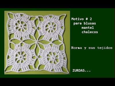 Motivo # 2.  ZURDAS ( para blusas,mantel o chaleco)