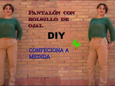 Pantalón con bolsillo de ojal:diy
