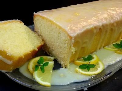 Pastel de limón con glaseado. Muy fácil y esponjoso