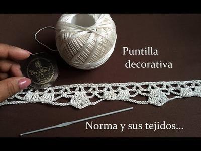 Puntilla a crochet  para decorar