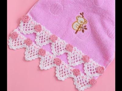 Puntilla toalla muy fácil y rápido
