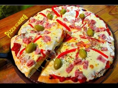 Receta de pizza masa esponjosa FACIL