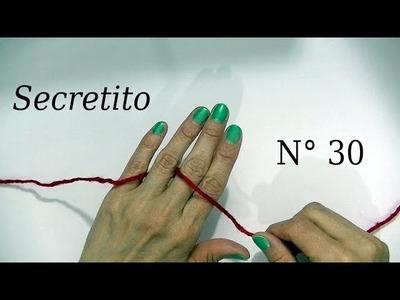 Secreto o Tip n° 30 ¿Cómo colocar el hilado entre los dedos? tejido crochet - Moda a Crochet