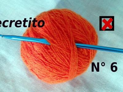 Secreto o Tip  N° 6 ¿Qué hacer con la aguja cuando se deja el tejido en suspenso? Moda a Crochet
