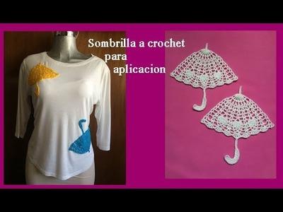 Sombrilla a crochet para aplicacion