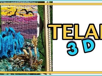 Wolle Telar Decorativo Paisaje 3d Paso A Paso árbol Sauce