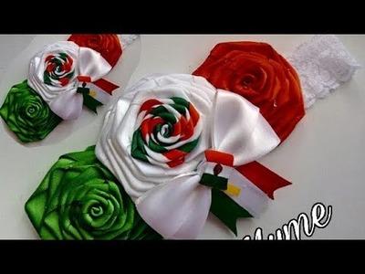 Tiara Colores patrios, Viva Mexico, rosas rococo