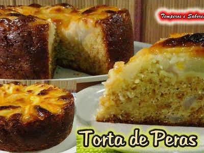 TORTA DE PERAS increíble, deliciosa y muy fácil