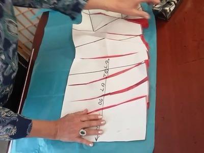 Vestido capricho de alta costura con drapeado lateral. Lección #61