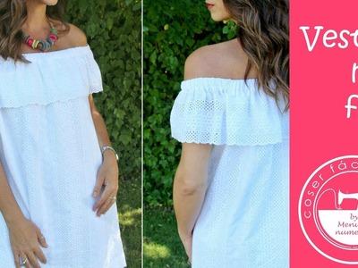 Vestido de verano con forro, muy fácil!!