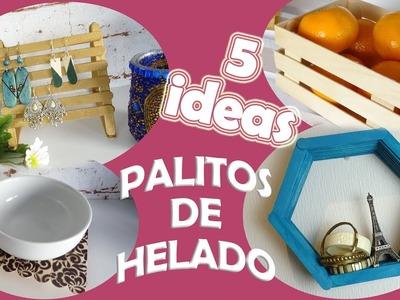 ???? 5 IDEAS DECORATIVAS CON PALITOS DE HELADO ???? : fáciles, rápidas y económicas