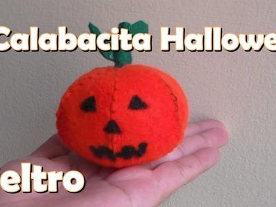 Calabacita Halloween. en fieltro