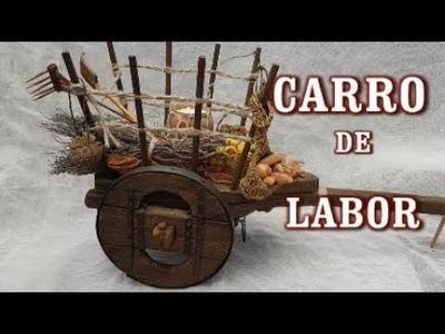 CARRO EN MINIATURA PARA NACIMIENTO, PESEBRE, BELÉN
