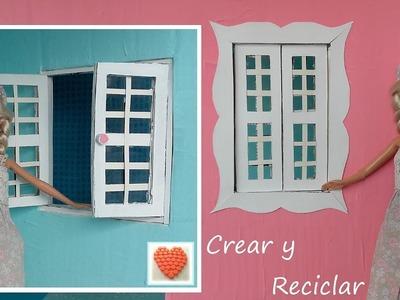 Casa de muñecas de cartón.  fácil Parte 6 Las ventanas