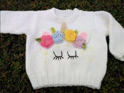 Como decorar un suéter de unicornio