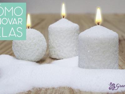 Como decorar velas para navidad