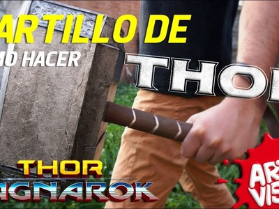 COMO HACER EL MARTILLO DE THOR. MJOLNIR DIY THOR RAGNAROK HAMMER @thorofficial @MarvelLATAM