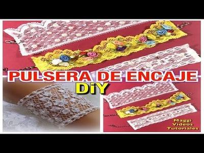 Como Hacer Pulsera de Encaje Lace Bracelet