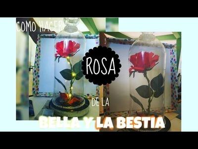 Como hacer Rosa de la Bella y la Bestia