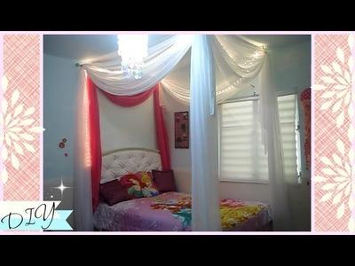 Como hacer un canopy con cortinas para la cama