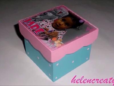 Como pintar una caja para souvenir. How to paint a souvenir box  by Helencreaty