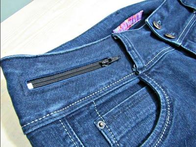 Confección de Bolsillo Secreto en Pantalón
