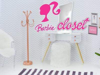 DIY - Closet da Barbie ???? Miniatura | Penteadeira, Cabideiro e Puff