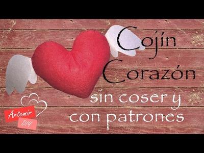 DIY Cojin Corazón Patrón Gratis - con Artemir