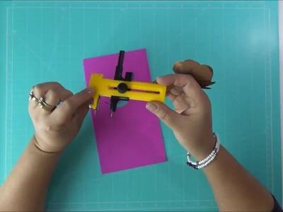 DIY Compás de Corte de Círculos en Foami, Goma Eva, Microporoso Circle Cutter Easy Craft