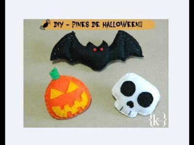 DIY -  Pines de fieltro conmemorativos de Halloween