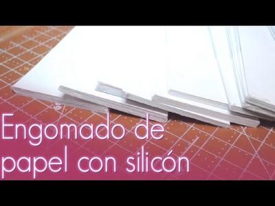 Engomado de papel con silicón