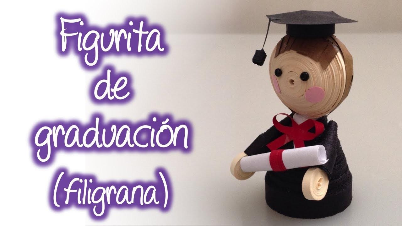 Figura de graduacion  de filigrana, Quilling graduation figure