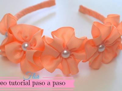 Flor de cinta para Diadema. cintillos.♥ | Margari