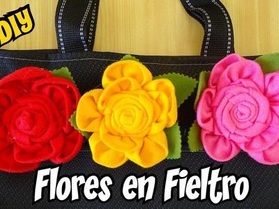 Flores de Fieltro Faciles para broches y prendedores DIY Mis Flores de tela