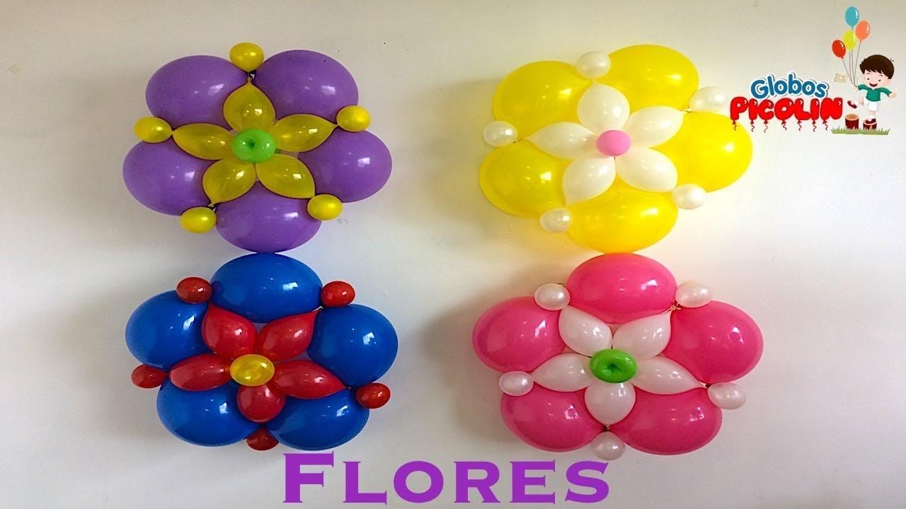 Flores faciles con globos