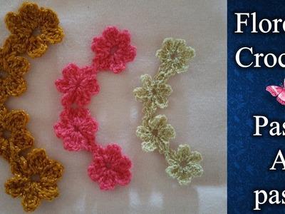 GUIA DE FLORES a crochet PASO A PASO