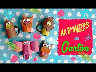 Haciendo Animalitos con tubos de Cartón en Albergues :: Chualdas Creativas