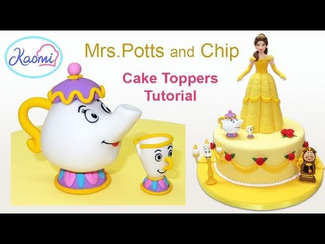 How to make Mrs. Potts and Chip. Cómo hacer a la Señora Potts y a  Chip en pasta de goma